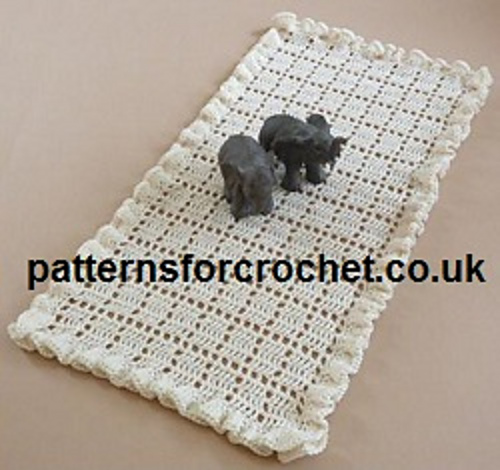 Ravelry Pfc66 Frilled Table Runner Pattern By Patternsfor Designs