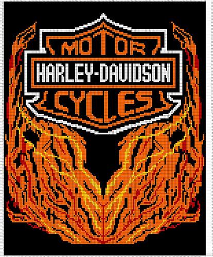 Ravelry Harley Davidson Afghan Chart Pattern By Pam Grennes