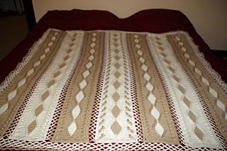 Ravelry: Coffee & Cream Diamonds Throw #4724 pattern by Jill Wright