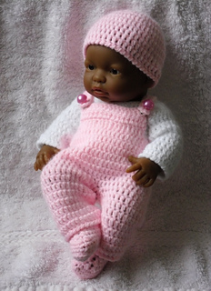Ravelry Dungaree Set For 9 Inch Berenguer Baby Doll Pattern By