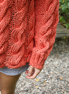 049c3581 Cute in Cables Sweater / Fin i flettegenser pattern by Anna ... - Ravelry