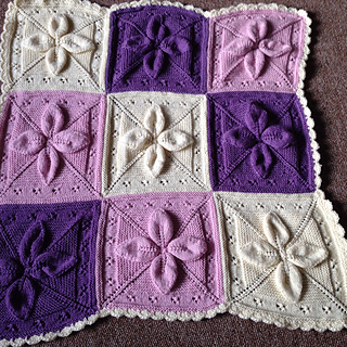 Free Knitting Pattern For Leaf Baby Blanket : Ravelry: Lucky 4-Leaf Afghan 12