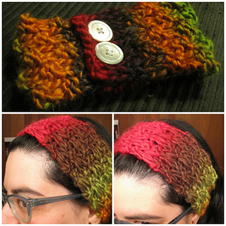 ravelry simple autumn headband pattern by amanda richner