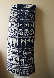 Ravelry Star Wars Double Knit Scarf Pattern By Jessica Goddard