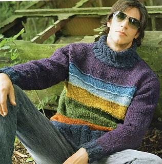 a8eddda5e38 Ravelry  37 Pánský pulovr se širokými pruhy pattern by Verena Design ...