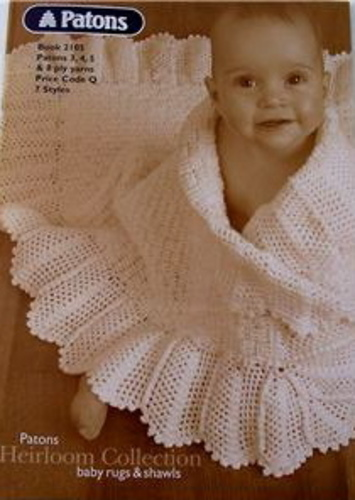 Ravelry Patons 2105 Heirloom Baby Rugs And Shawls Patterns