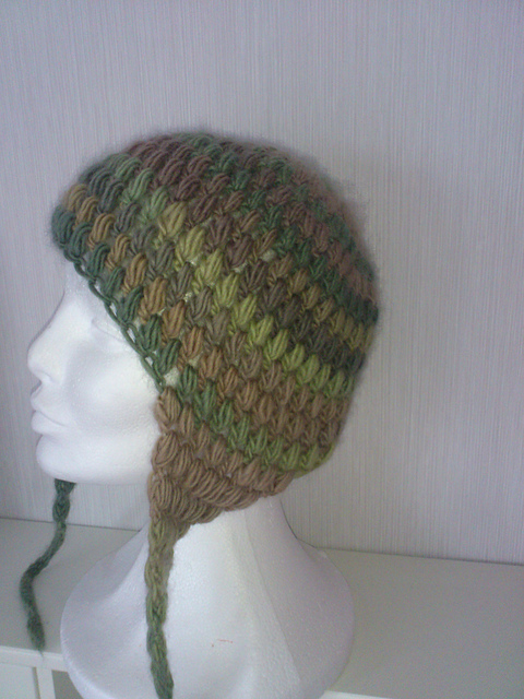 Ravelry Puff Stitch Crochet Cap With Ear Flaps Pattern By Teresa