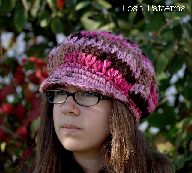 Ravelry Apple Cap Slouchy Newsboy Hat 222 Pattern By Posh Patterns