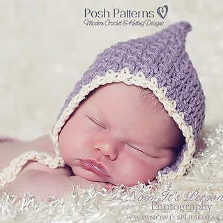 Ravelry  Vintage Style Baby Pixie Hat 266 pattern by Posh Patterns 798cdeaa68d