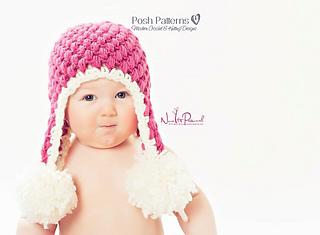 Ravelry puff stitch earflap hat crochet pattern 104 pattern by ravelry puff stitch earflap hat crochet pattern 104 pattern by posh patterns dt1010fo