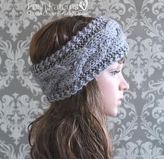 Ravelry cable headband ear warmer knitting pattern 407 pattern by ravelry cable headband ear warmer knitting pattern 407 pattern by posh patterns dt1010fo