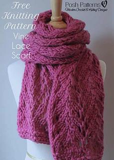 Ravelry: Vine Lace Scarf pattern by Posh Patterns