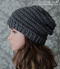 Ravelry  Vertical Ribbed Slouchy Hat 429 pattern by Posh Patterns c424e8cb285