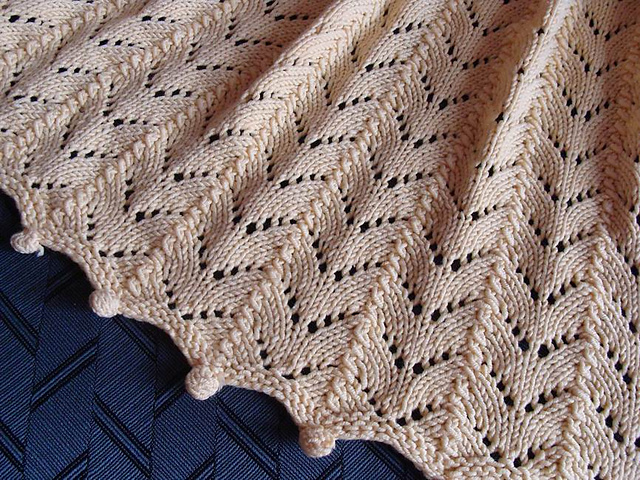 Ravelry: Chevron Lace Throw pattern by Veronica Manno
