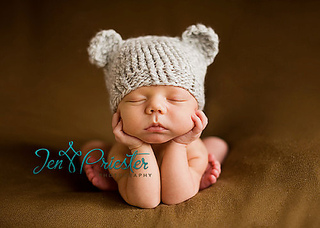 Ravelry  Knit Newborn Baby Bear Hat pattern by Olesya Pronyaeva 878ac42c656