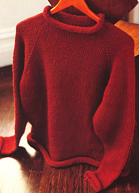 Ravelry Mens Roll Neck Sweater Pattern By Kris Percival