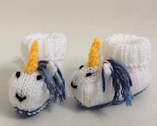 Ravelry Unicorn Baby Booties Pattern By Emma Whittle