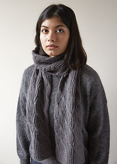 Ravelry Reversible Rivulet Scarf Pattern By Purl Soho
