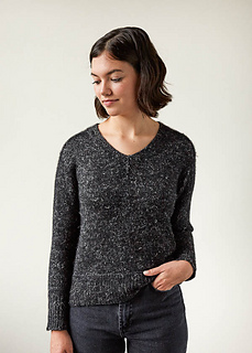 Shoulder Forward Pullover pattern by Purl Soho