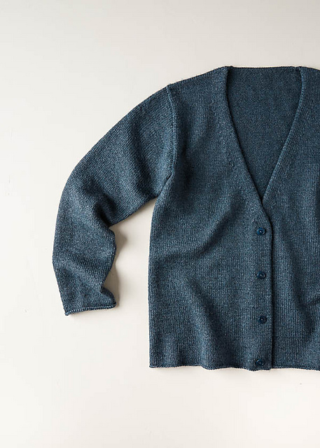Low-V Cardigan pattern by Purl Soho