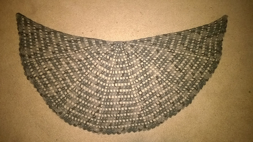 Ravelry Sort Of Half Circle Shawl Pattern By Purpleiguana
