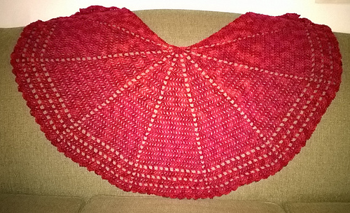 ravelry sort of half circle shawl pattern by purpleiguana. Black Bedroom Furniture Sets. Home Design Ideas