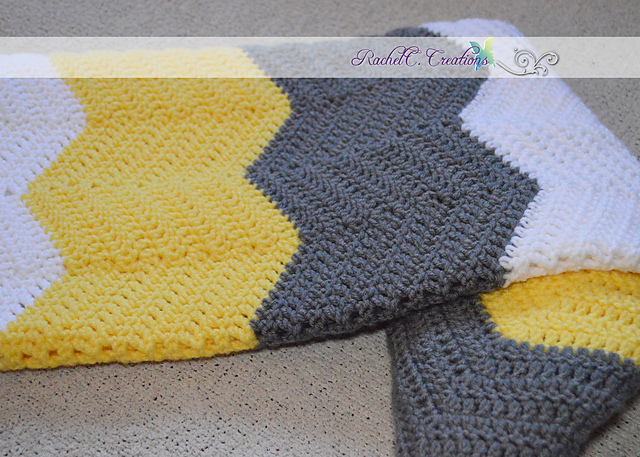 Ravelry: Chevron Baby Blanket pattern by RachelC. Creations