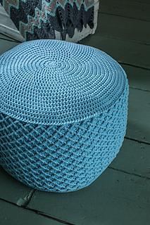 Ravelry woven ottoman pattern by laurinda reddig - Crochet pouf ottoman pattern free ...