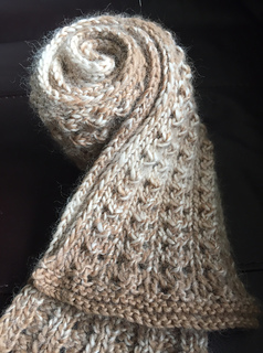 Ravelry Easy Winter Column Lace Scarf Pattern By Ratchadawan Chambers