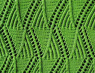 Ravelry: Mountain Peaks Knit Stitch Pattern pattern by