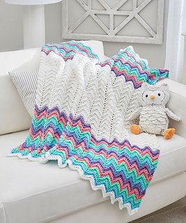 Ravelry Rickrack Rainbow Baby Blanket Pattern By Red