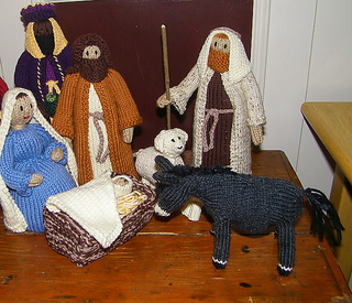Free Dk Baby Knitting Patterns : Ravelry: Natas Knitivity Donkey pattern by Renata Brenner