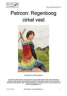Ravelry Regenboog Cirkel Vest Pattern By Renske Creatief