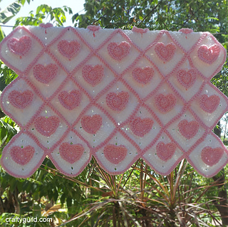 Ravelry 3d Heart Granny Baby Blanket Pattern By Rhea