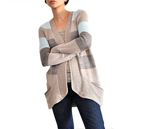 BlueSand Cardigan pattern by La Maison Rililie