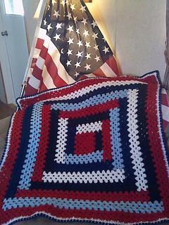 Ravelry patriotic lapghan pattern by roberta duley dt1010fo