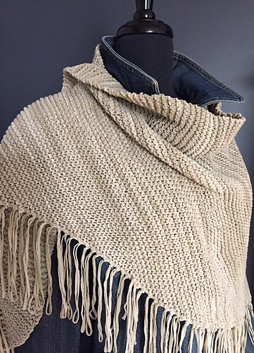 Ravelry Urban Ranch Shawl Pattern By Andra Asars