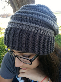 f57e9cee103 Ravelry  Riptide Slouch Hat pattern by Meladoras Creations