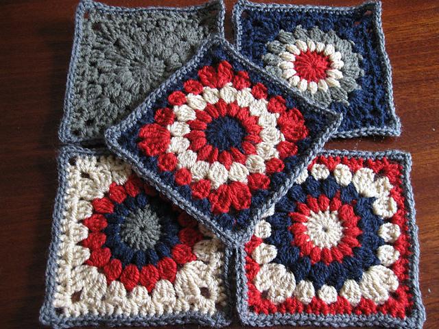 Ravelry Sunburst Granny Squares Pattern By Priscilla Hewitt