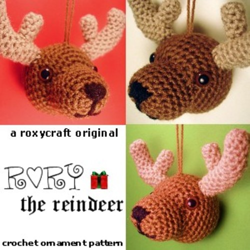Ravelry Rory The Reindeer Ornament Pattern By Tamie Oldridge