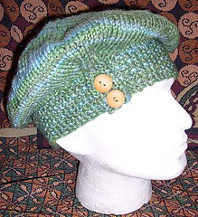 d09e303b0b9 Ravelry  Button Bonnet pattern by Sally Pointer  Wicked Woollens