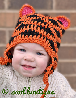 Ravelry  Tiger Hat Crochet Pattern pattern by saol boutique 8e6f4a9eebc