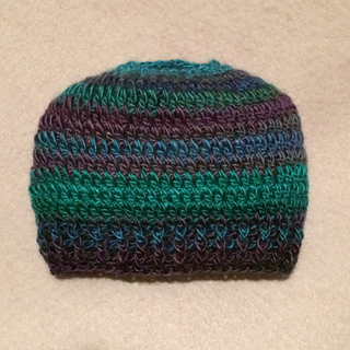 b2c63ef0f8e20 Ravelry  Seamless Ponytail Hat pattern by Julie Yeager