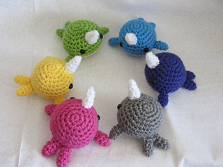 Amigurumi Narwhal Pattern : Ravelry blob narwhal dolphin orca amigurumi pattern by