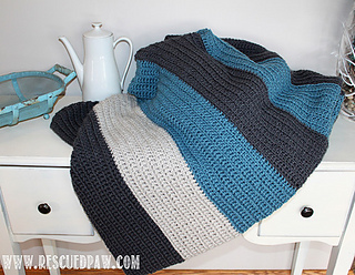 Ravelry Blanket Color Blocked Stripes Pattern By Krista Cagle