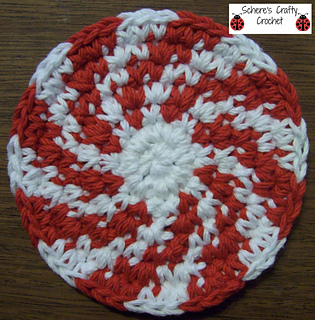 Ravelry Peppermint Swirl Coasters Pattern By Schere Wade Of