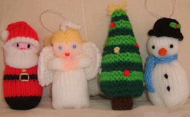 Knitting Patterns Free Links Christmas Knits Santa Angel Snowman