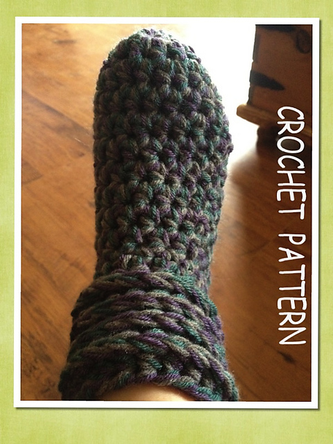 Ravelry True North Toe Up Slipper Boots Crochet Pattern Pattern By