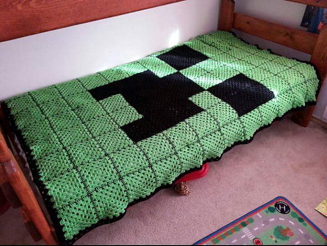 Ravelry Minecraft Creeper Face Afghan Pattern By Stellar Goods
