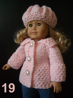 Ravelry Cotton Candy 18 Quot Ag Doll Coat Set Pattern By Vita